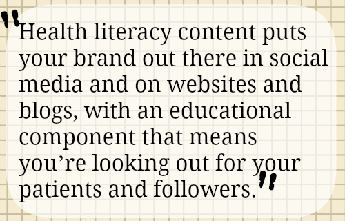Health Literacy and Social Media Marketing